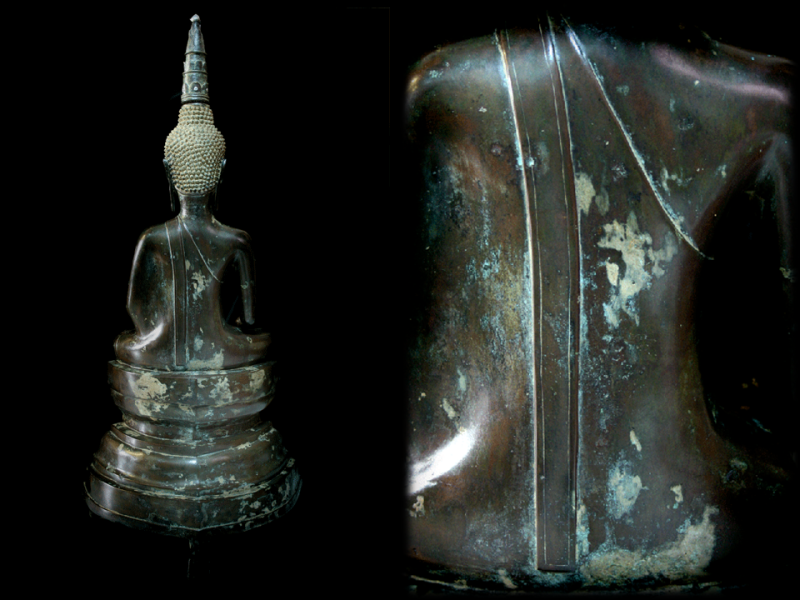 Extremely Rare Early 17C Bronze Laos Buddha #0039-2