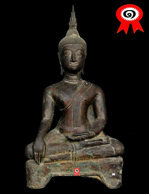 Extremely Rare 18C Wood Sitting Shan Buddha #A088
