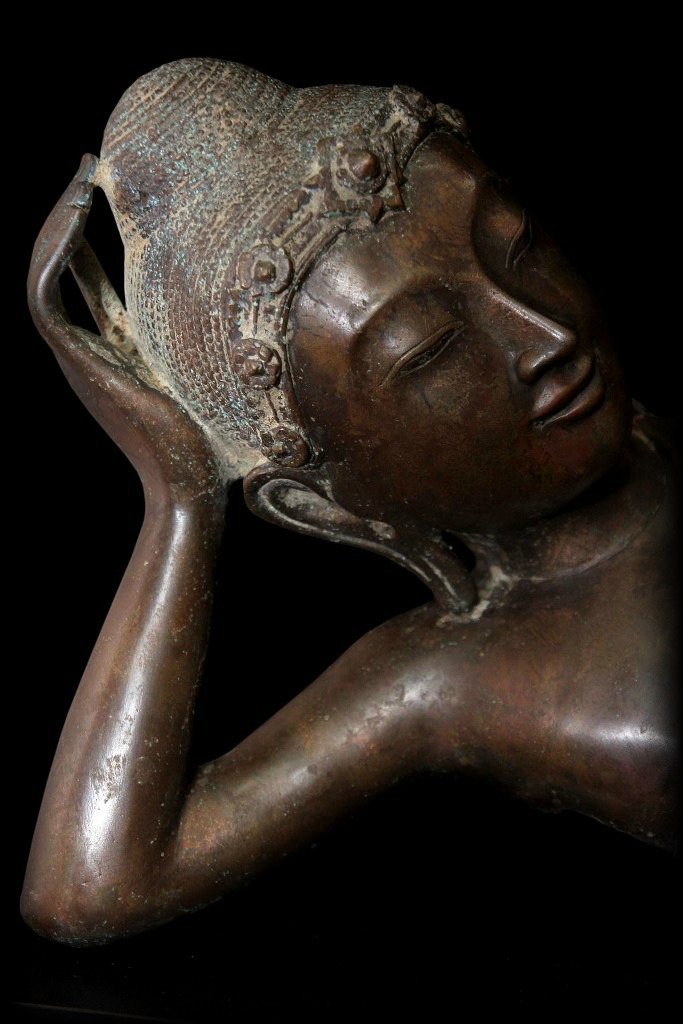 Beautiful 19C Bronze Burma Mandalay Buddha #BB212