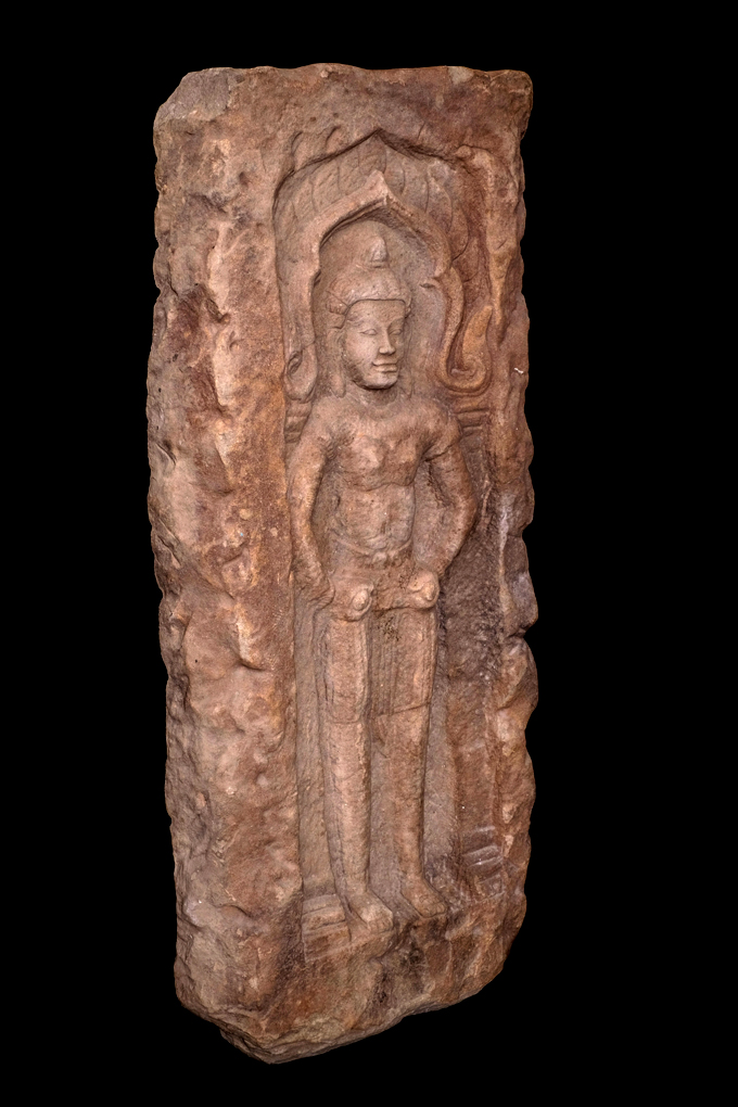 Extremely Rare 18C Wood Burmese Temple Carving Door #DG004