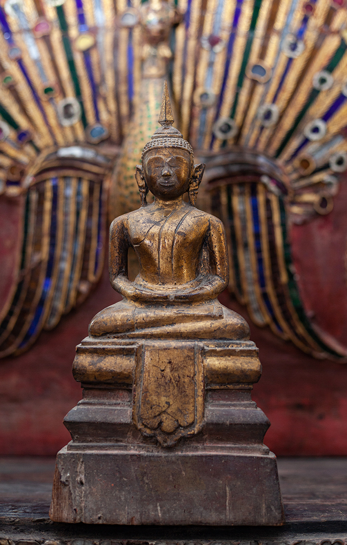 Extremely Rare 19C Wood Mandalay Monk #CA1013
