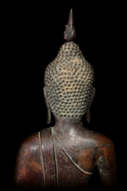 Extremely Rare Early 18C Bronze Laos Buddha #BB207