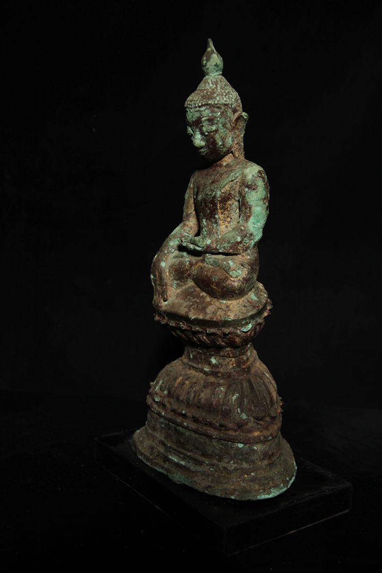 Early 18C Bronze Shan Burmese Buddha #BB59