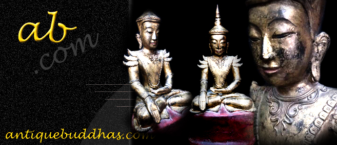 Extremely Rare 18C Lacquer Shan Buddha #9181
