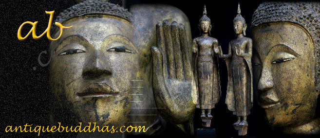 Extremely Rare Early18C Wood Thai Ayuttaya Buddha #A018