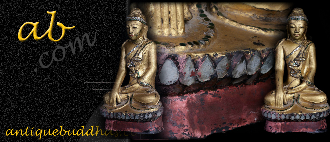 Extremely Rare Early 19C Lacque Mandalay Buddha #A042