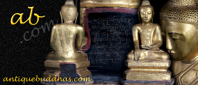 Extremely Rare 19C Lacque Mandalay Buddha #A082