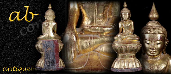 Beautiful 18C Wood Shan Burma Buddha #A113