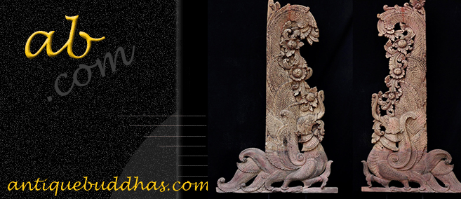 Extremely Rare Early 19C Thai Rattanakosin Buddhist Chest #A119