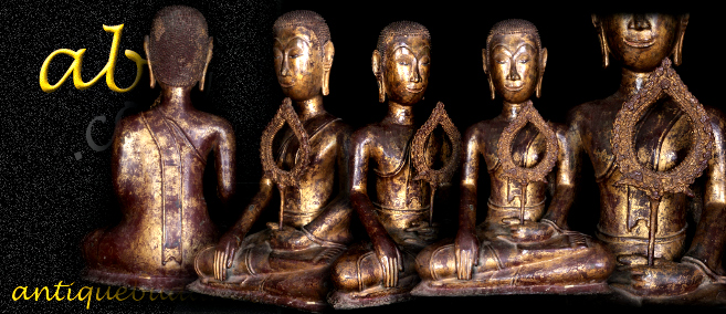 Extremely Rare Early 17C Bronze Thai Ayuttaya Buddha # A127