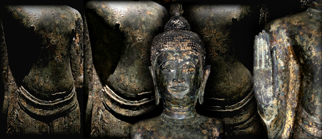 Extremely Rare Early 16C-17C U-Thong Ayuttaya Thai Buddha # AC102
