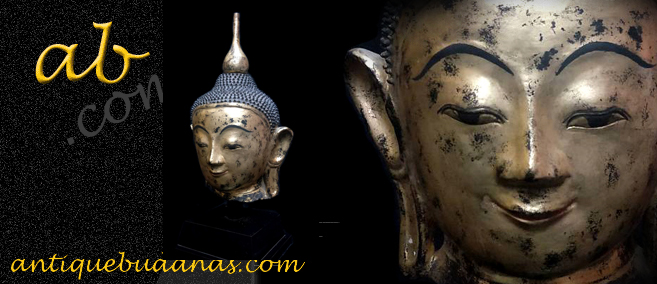 Extremely Rare Early 17C Lacquer Ava Burma Buddha #ACM.003