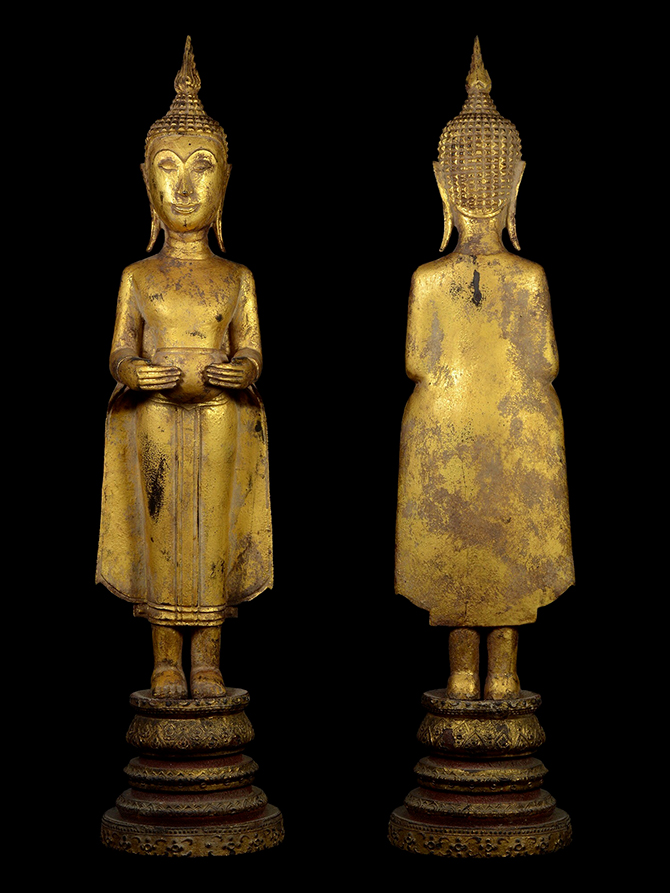 Extremely Rare Early 19C Thai - Laos Lanna Buddha #AL.867