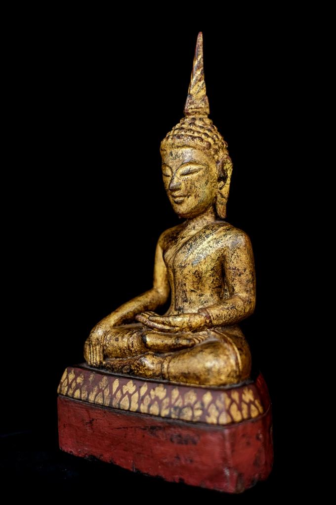 Extremely Rare Early 19C Wood Thai Ganesha #BB220