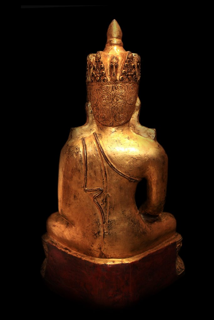Extremely Rare 18C Lacquer Shan Burma Buddha #BB256