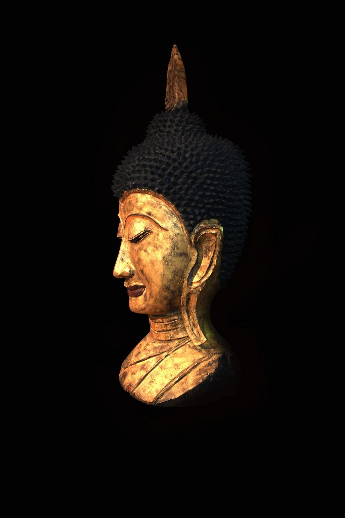 Extremely Rare 18C Wood Thai Changsang Buddha Torso #BB300