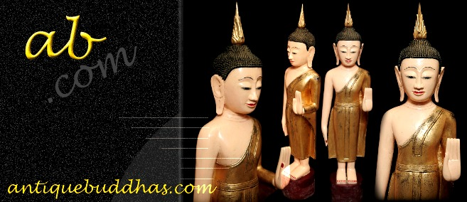 Extremely Rare 19C Wood Lanna Thai Buddha #BB449