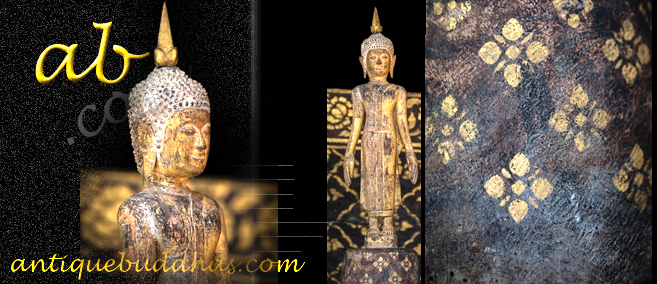 Extremely Rare 19C Reclining Wood Lanna Thai Buddha #CR.029