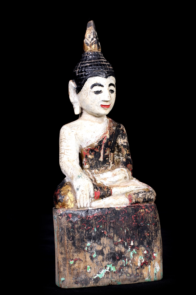 Extremely Rare Early 18C Bronze Burmese Shan Buddha # DW004
