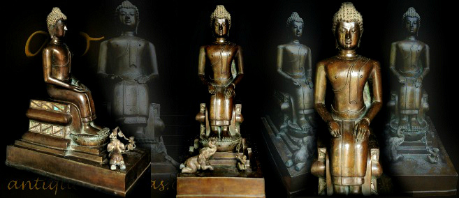 Antique Bronze Thai buddha