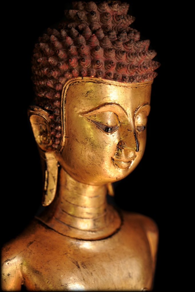 Extremely Rare Early 17-18C Bronze Laos Buddha #DW043
