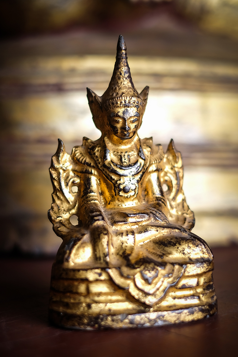 Extremely Rare Early 19C Bronze Shan Burmese Buddha #DW071