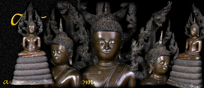 Extremely Rare Early 19C Bronze Thai Rattanakosin Buddha # DW205