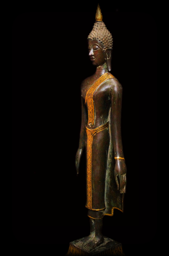 Extremely Rare Early19C Bronze Laos Buddha #040-2