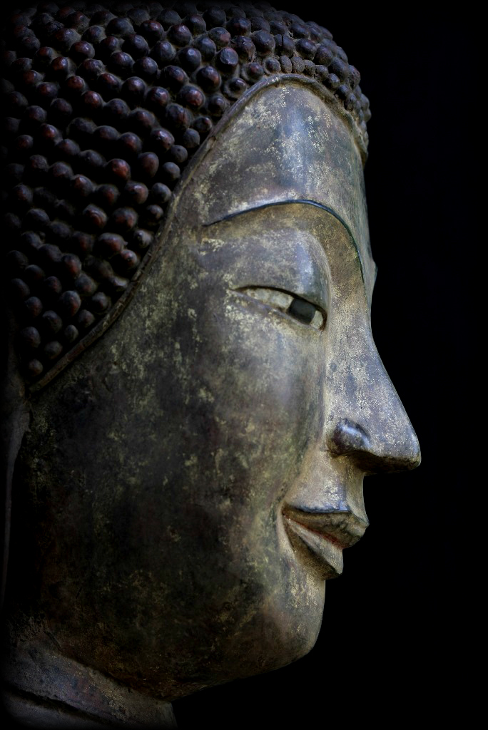 Extremely Rare 17C - 18C Walking Wood Laos Buddha #A20