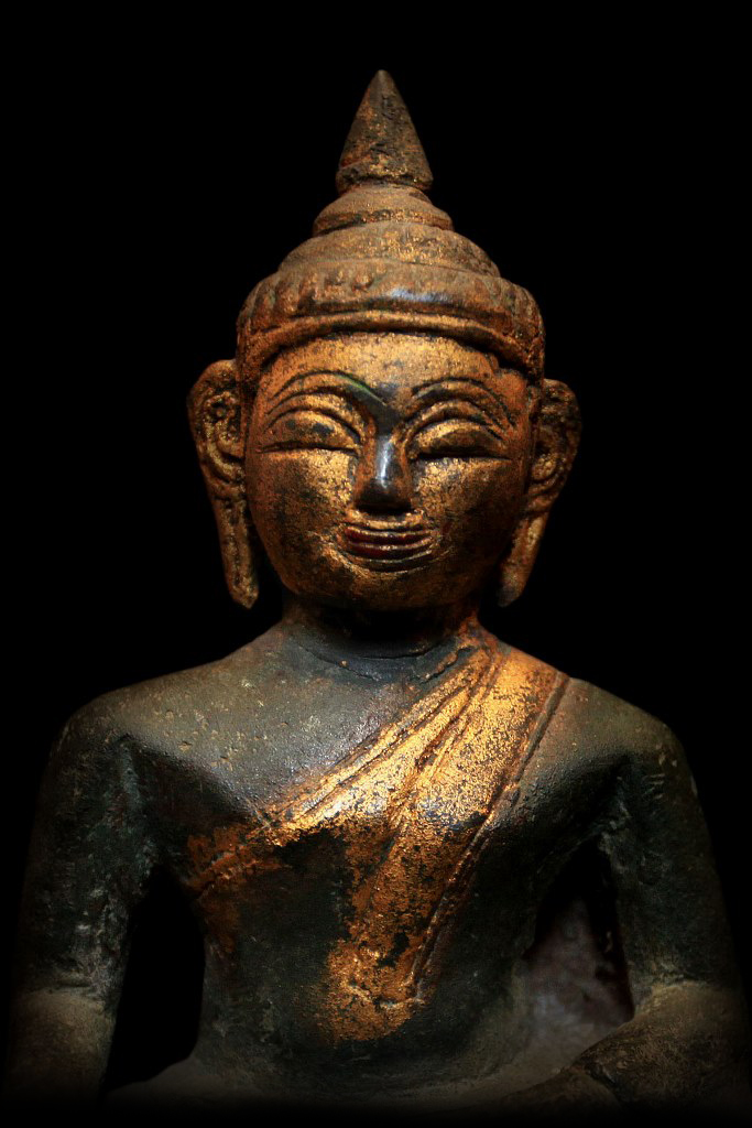 Extremely Rare Early 18C Bronze Laos Buddha #CA.07.24.C