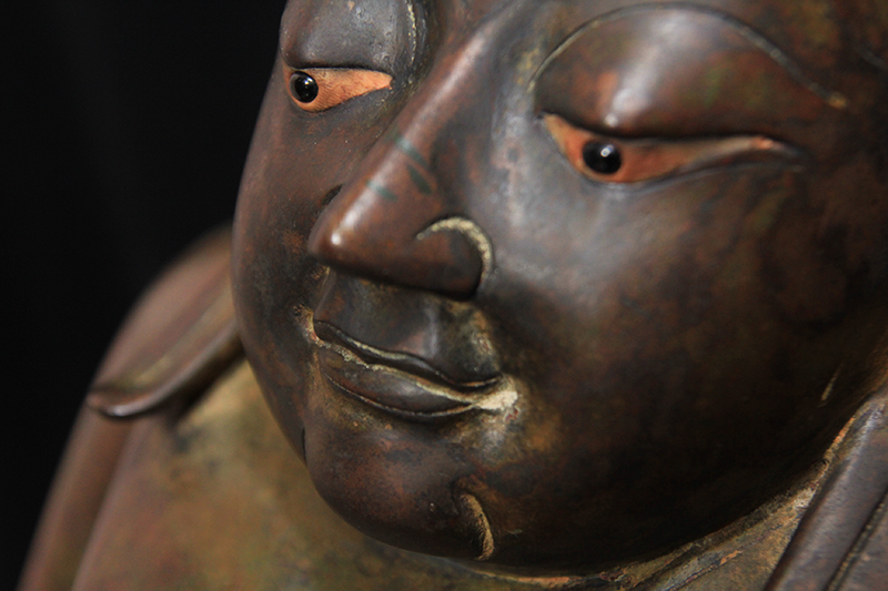 Extremely Rare Early 19C Bronze Thai Happy Buddha #BB170