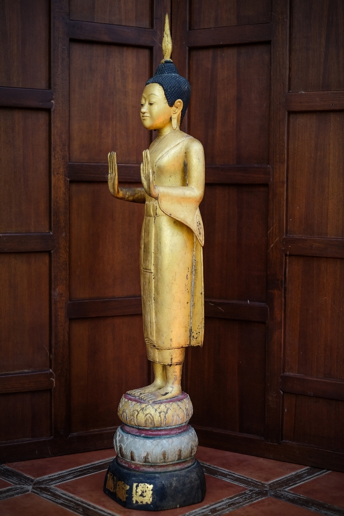 Extremely Rare Early 18C Alabaster Ava Buddha #BB319