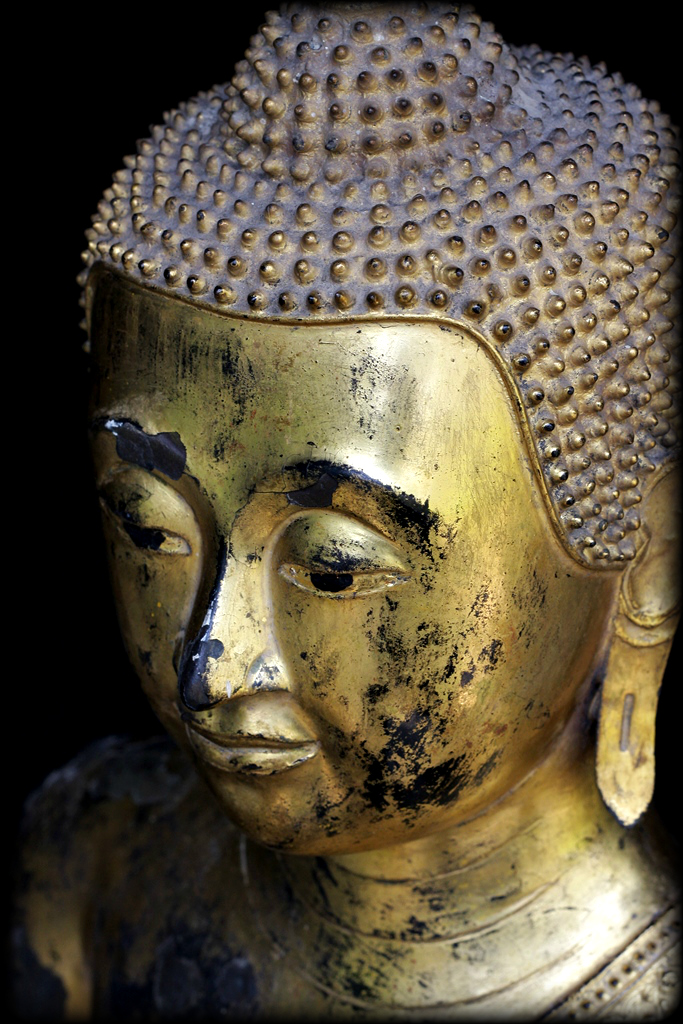 Extremely Rare Early 19C Bronze Thai Rattanakosin Buddha #CH3