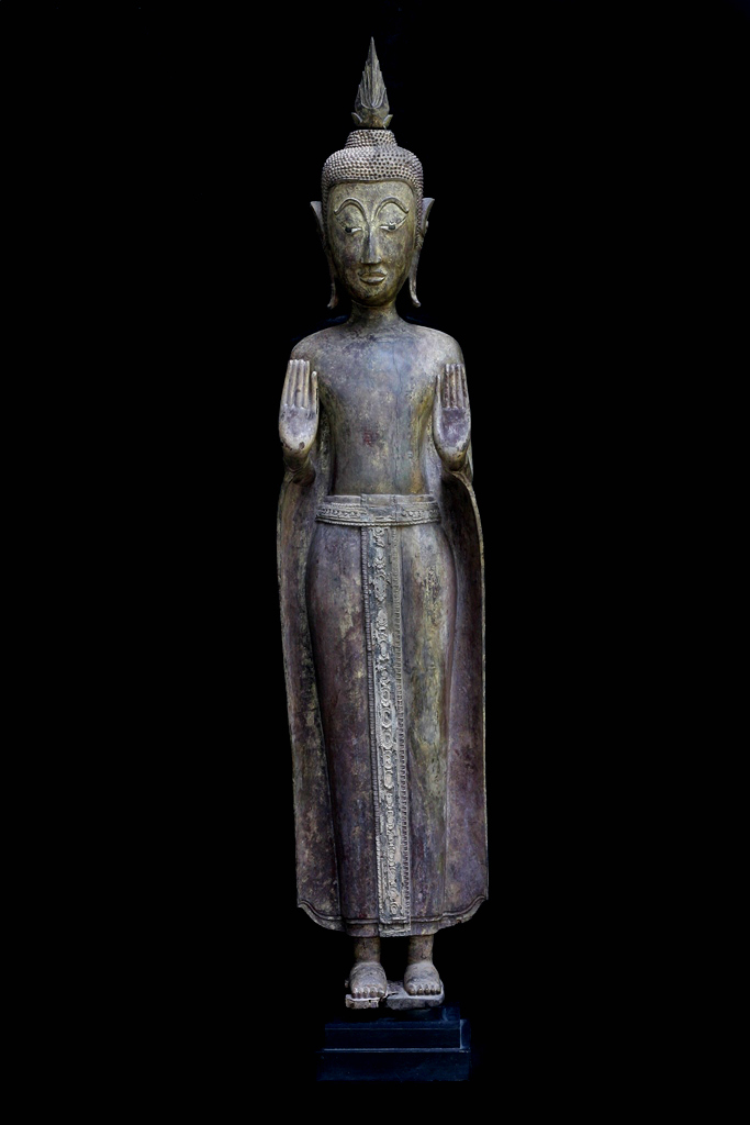 Extremely Rare 19C Wood Asian Laos Buddha #025_1S