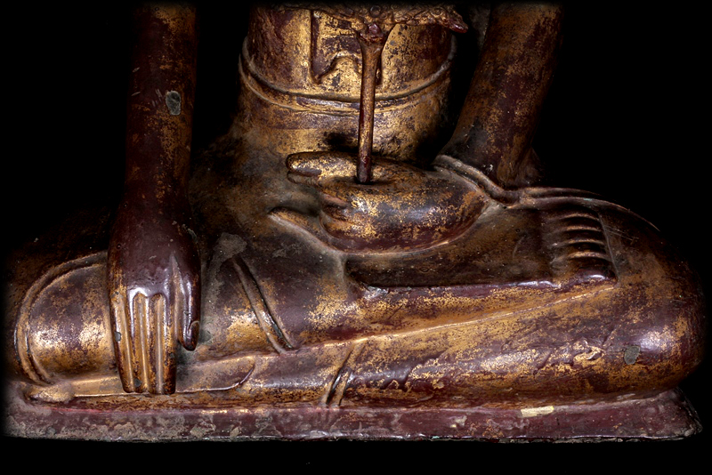 Extremely Rare Early 17C Bronze Thai Ayuttaya Buddha # DW035