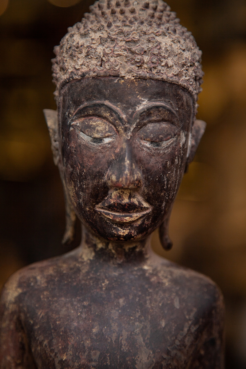 Extremely Rare Early 17C Bronze Ayuttaya Buddha Head #DW056