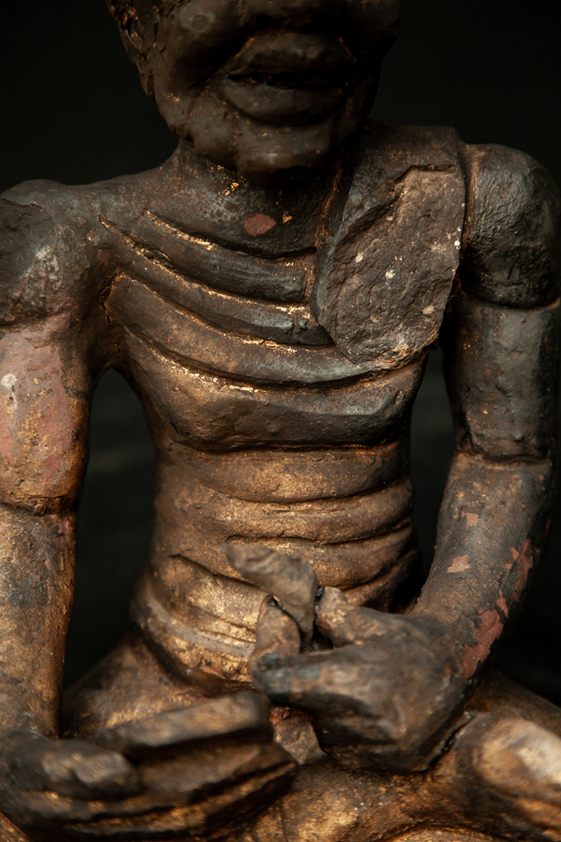 Extremely Rare Early 17C Bronze Chiangsang Buddha Head #DW059