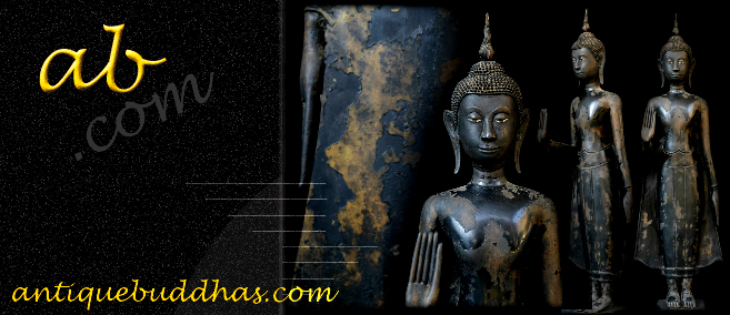 Extremely Rare Early 19C Bronze Rattanakosin Thai Buddha # LA011