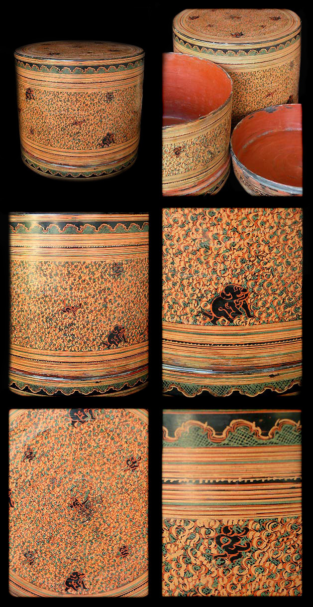 Extremely Rare Early 20C Pagan Lacquer Ware.#LW.703
