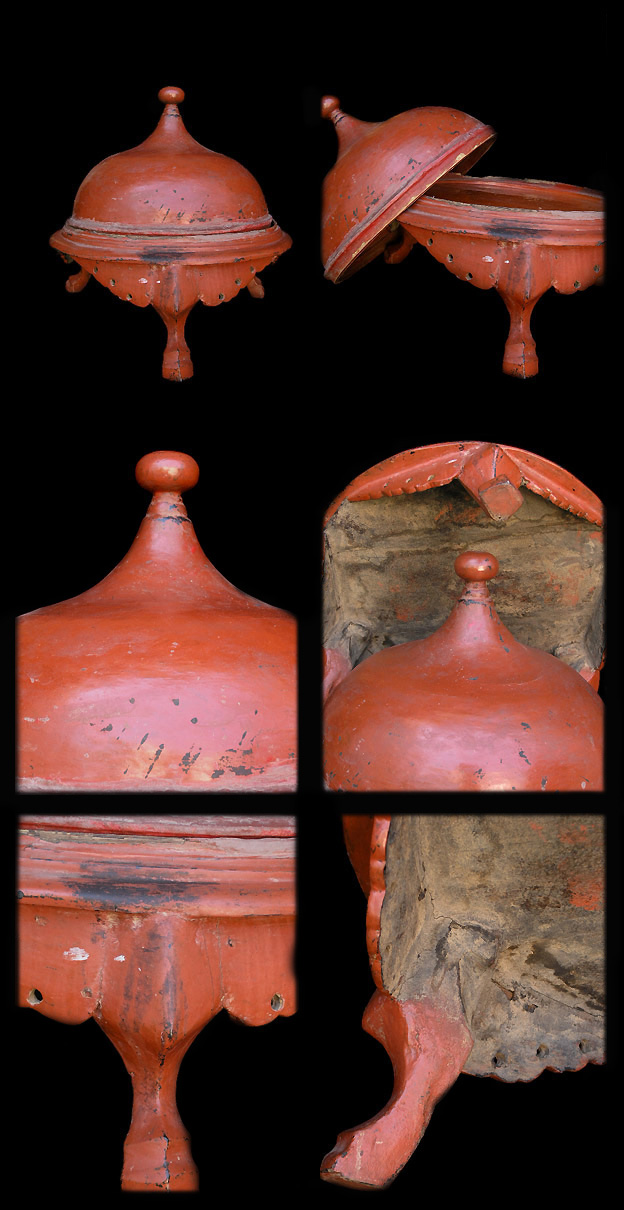 Extremely Rare Early 20C Shan Lacquer Ware. #LW.817