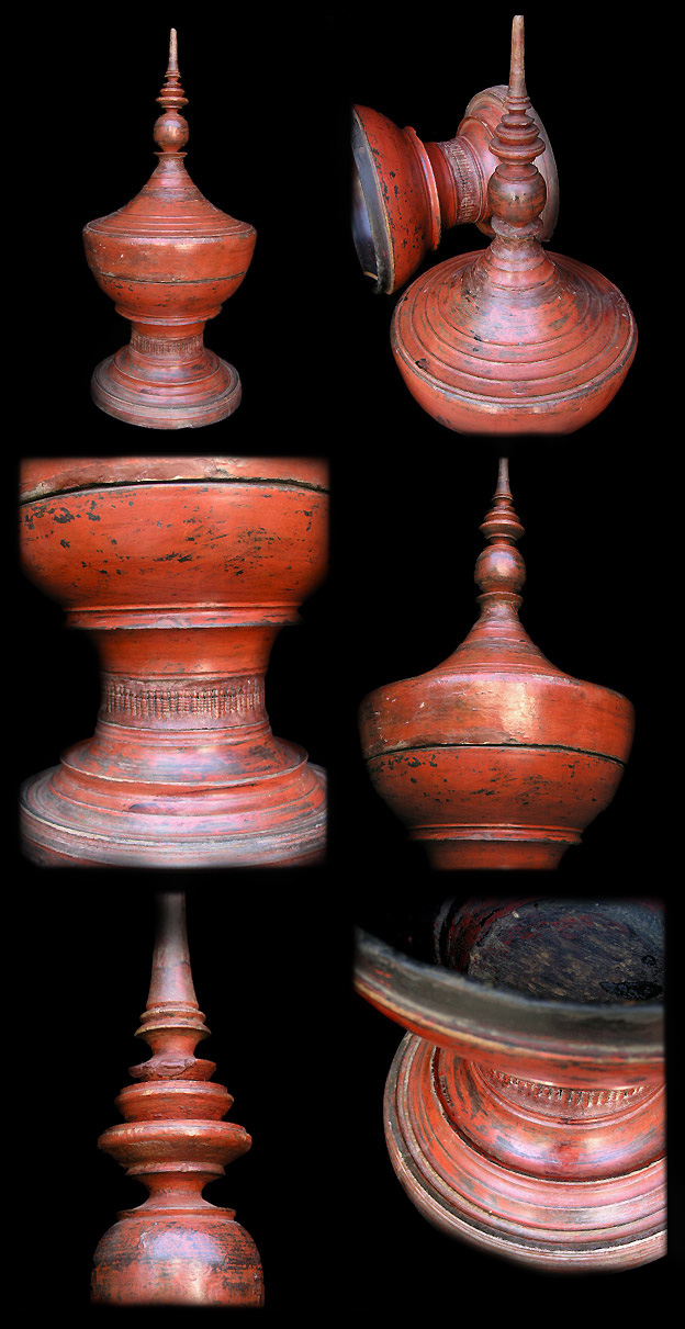 Extremely Rare Early 20C Shan Lacquer Ware. #LW.821