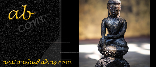 Extremely Rare Early 19C Bronze Burma Shan Buddha #OF143
