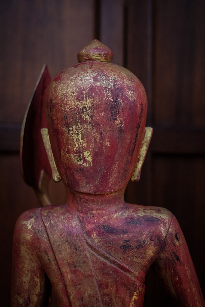 Extremely Rare 19C Wood Mandalay Monk #CA1012