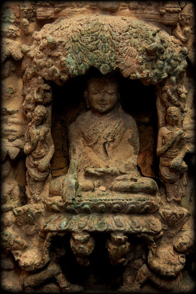 Early 16C Bronze Burma Pagan Temple Buddha Story Wall #BB15