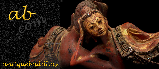Extremely Rare 19C Reclining Lacquer Mandalay Buddha #BB21