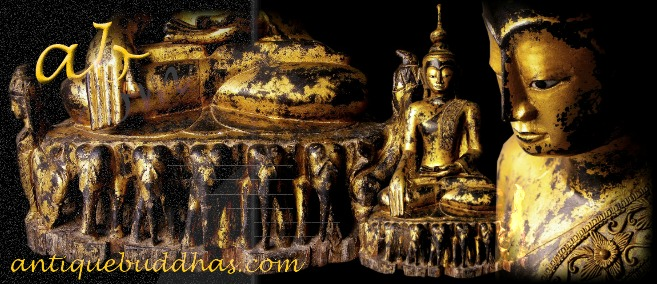 Extremely Rare 18C Wood Sitting Shan Buddha #BB086
