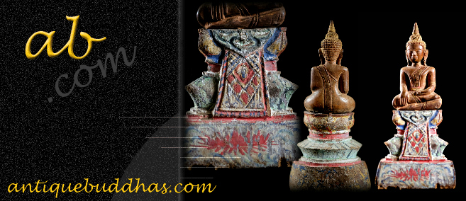Extremely Rare 19C Wood Thai Lanna Buddha #BB111