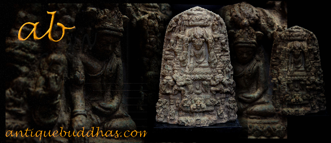 Early 16C Bronze Burma Pagan Temple Buddha Story Wall #BB20
