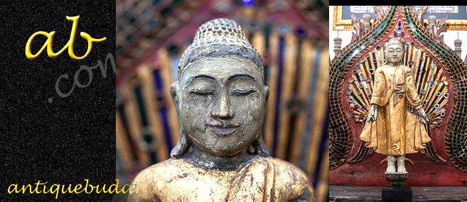 Extremely Rare 19C Wood Burma Mandalay Buddha #BB184