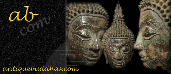 Extremely Rare 19C Bronze Thai Lanna Buddha Head # BB190